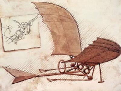 Planeador (un adelanto de lo que hoy es el ala delta)